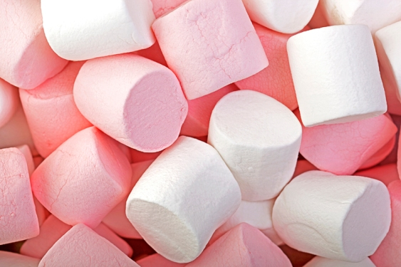 Pink and White Marshrmallow background.